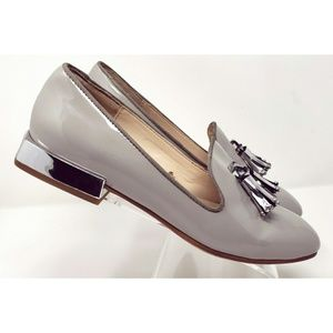 Zara patent leather loafers with tassels sz 7
